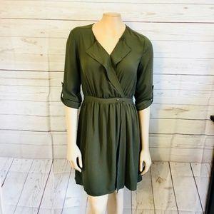 [41 Hawthorn] Stitchfix Olive Faux Wrap Dress